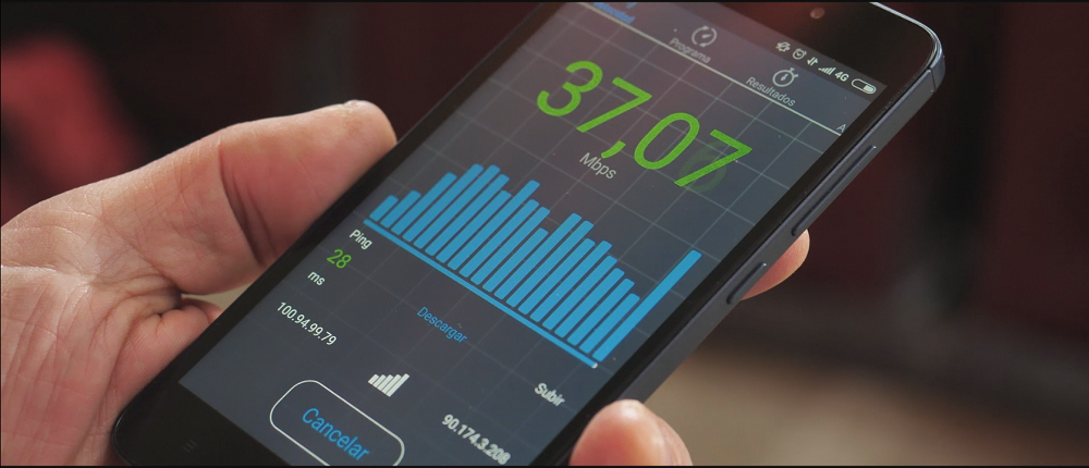 Velocidad de carga y descarga de datos móviles