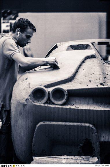 (6)23. Crafting of clay design model of Ferrari J50