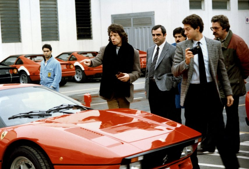 (7)30. Visit to Ferrari - Mick Jagger, leader of the Rolling Stones, on the delivery of his GTO