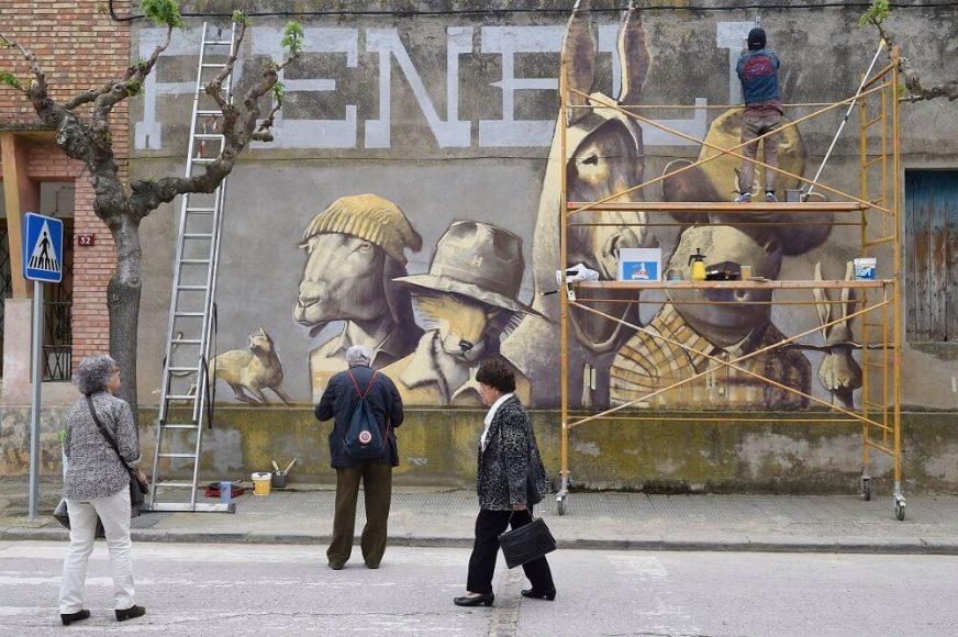 Penelles el pueblo de los graffitis