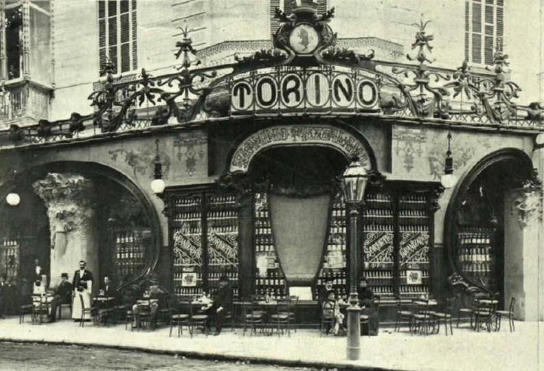 El desaparecido Torino, el palacio del vermut, estaba en la esquina de Passeig de Gràcia con Gran Via.