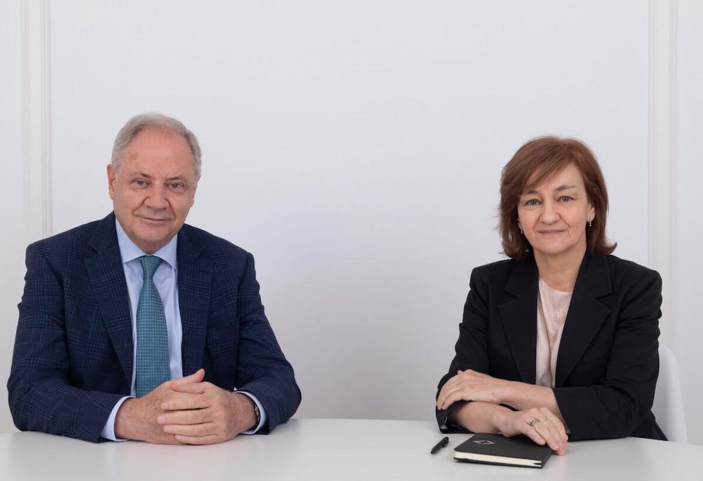 El presidente de Atrys Health, Santiago de Torres, i la consellera delegada, Isabel Lozano.