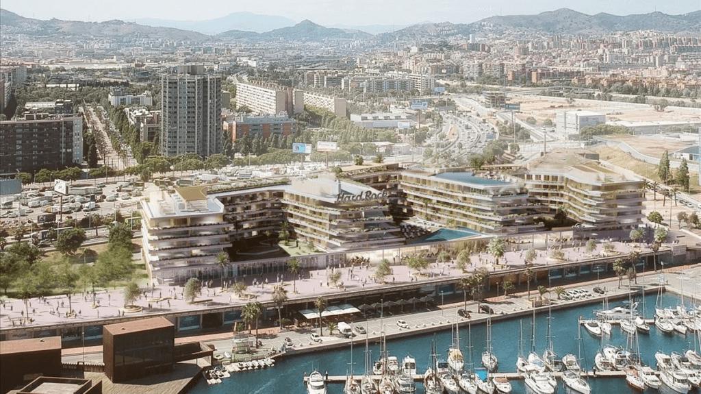 Así se verá el futuro Hard Rock Hotel Barcelona, que se prevé que abra sus puertas en 2022.