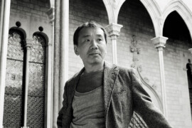 Haruki Murakami en el Palau de la Generalitat, en una visita a Barcelona © Iván Giménez / Tusquets Editores