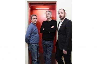 José Antonio de Luna, Juan Carlos Tous y Jaume Ripoll, los socios fundadores de Filmin.