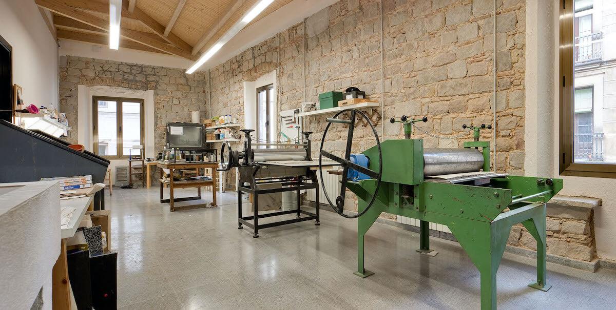 Màquines de gravat del Centre Artístic Sant Lluc