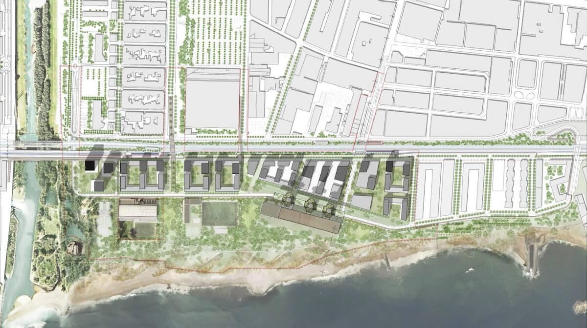 Este pasado verano se aprobó el PDU de Las Tres Xemeneies, que reordenará 32 hectáreas del frente litoral metropolitano.