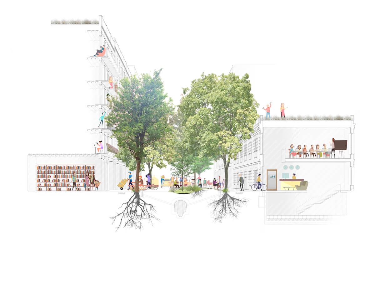 Así se imagina el Ayuntamiento de Barcelona las nuevas calles de la ciudad.