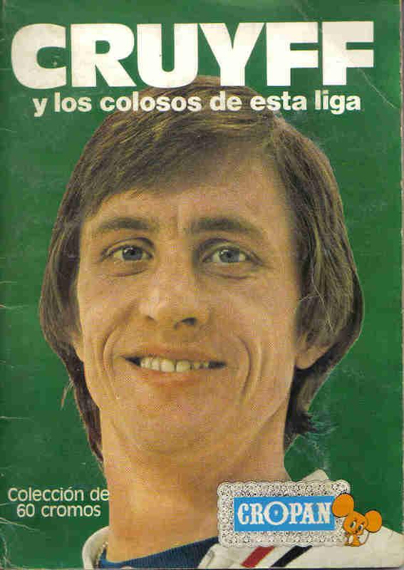 Àlbum de cromos con Johan Cruyff