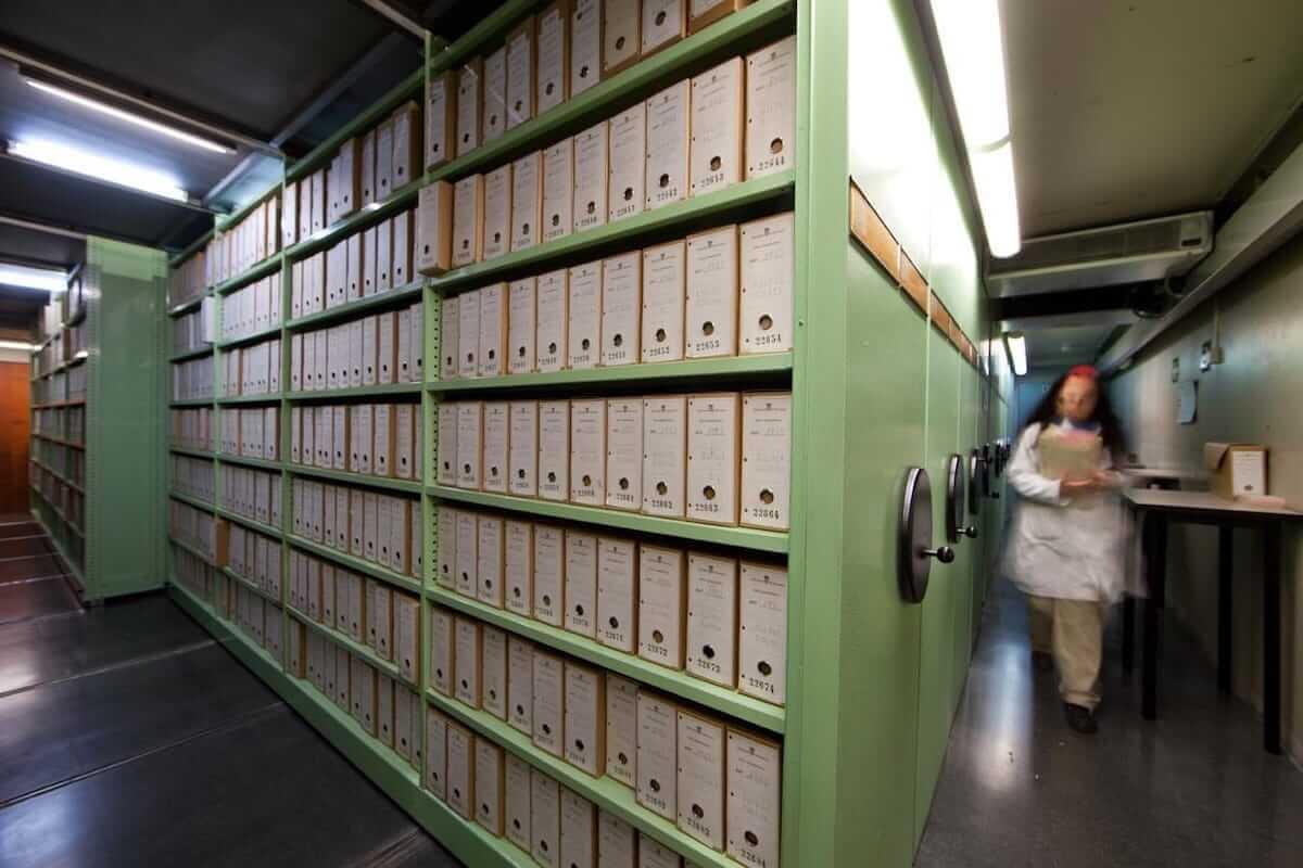 Una de les plantes de l'Arxiu Municipal de Barcelona