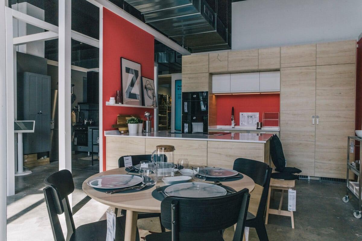 Cuina exposada a l'Ikea Planning Studio