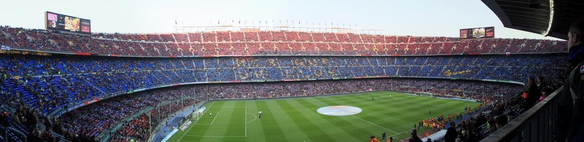 Panoràmica del Camp Nou.