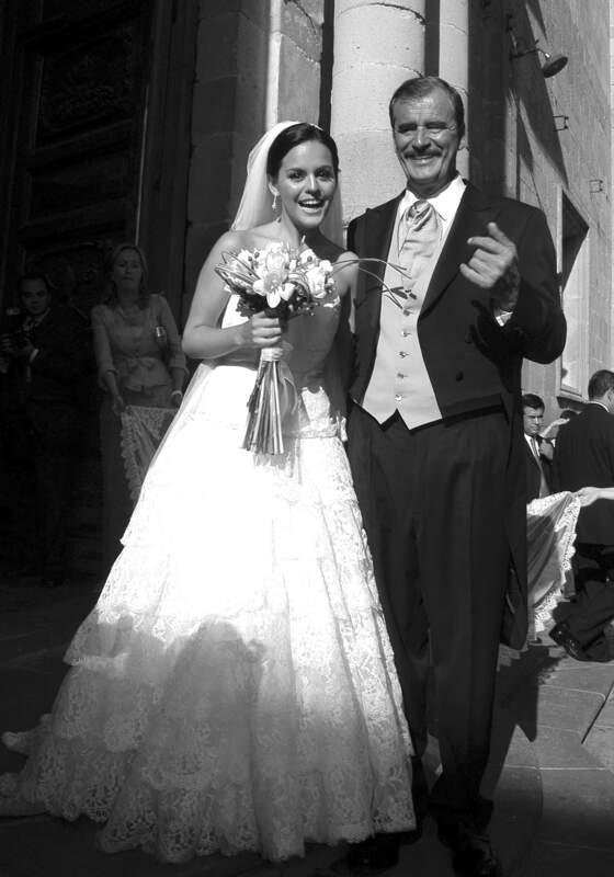 Paulina Fox y Vicente Fox