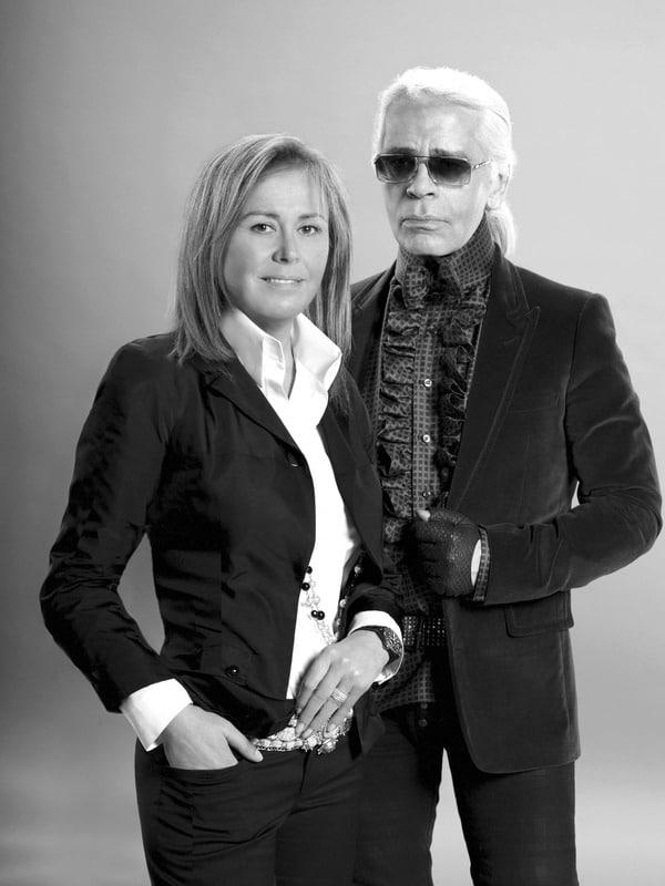Rosa Clará y Karl Lagerfeld