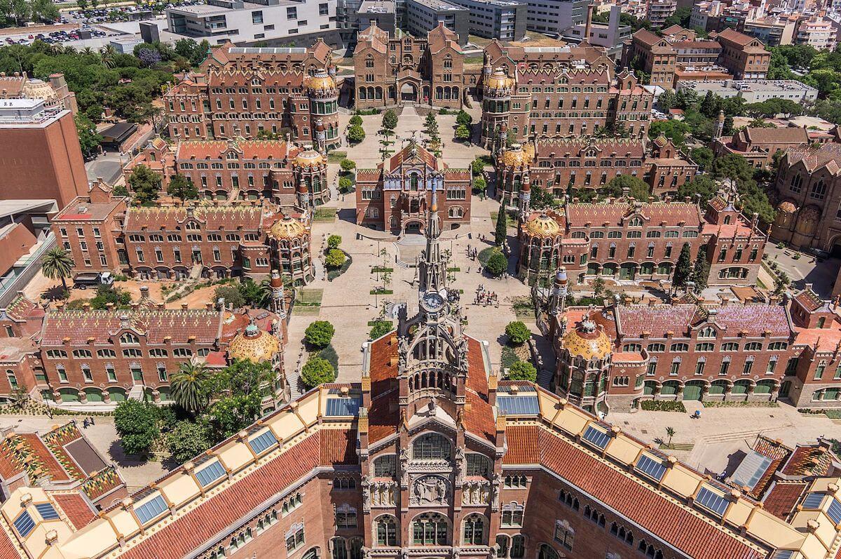 Vista aérea del Recinte Modernista Sant Pau