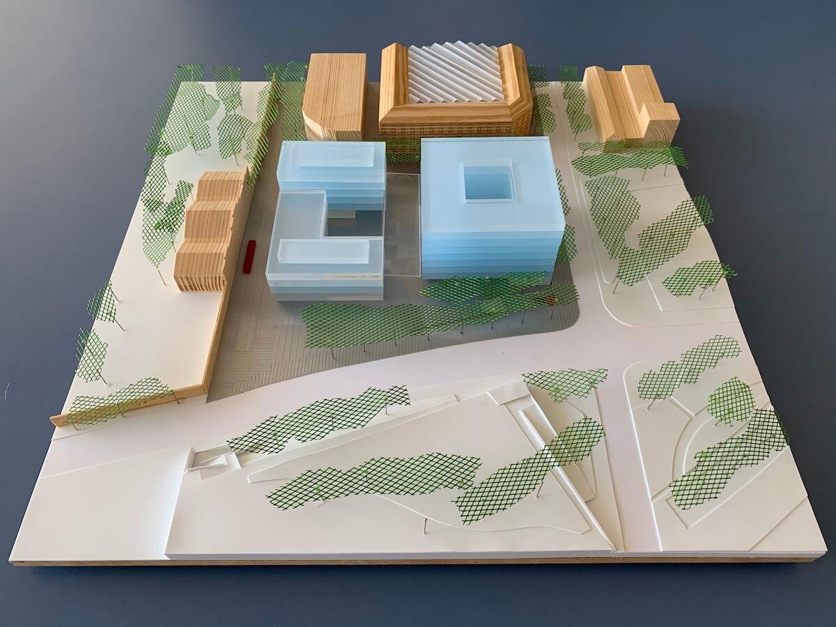 Maqueta edificis CSIC, UPC i BIST Ciutadella del Coneixement