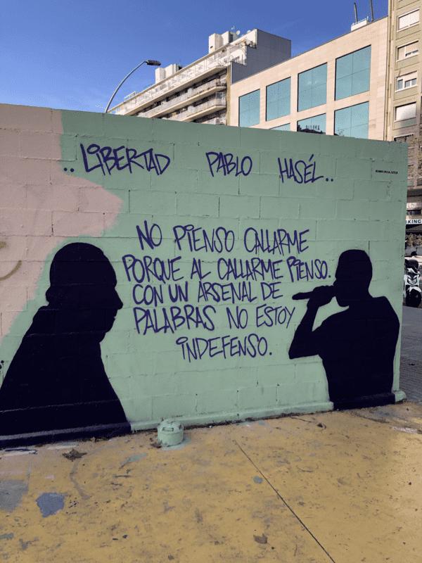 Grafiti Libertad Pablo Hasél