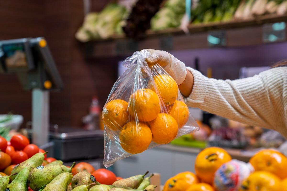 Fruta en mercado de Barcelona