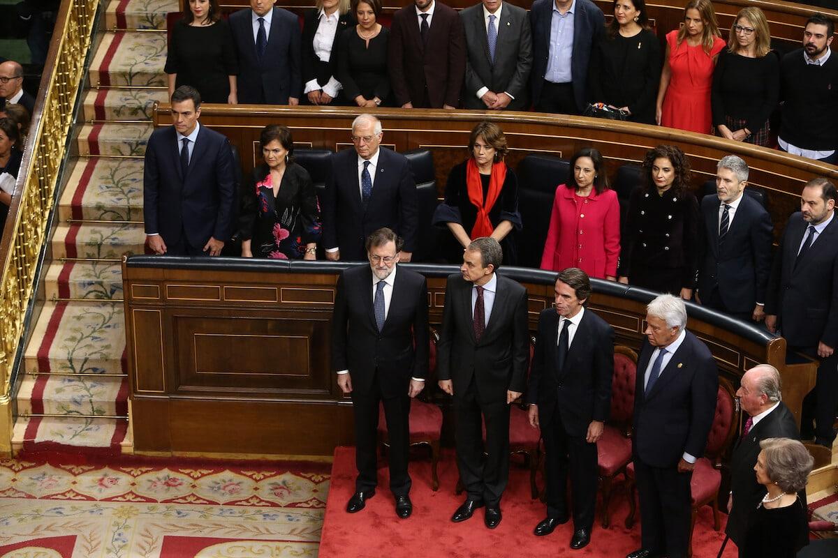 Rey emérito Juan Carlos I en el acto por el 40 aniversario Constitución Española