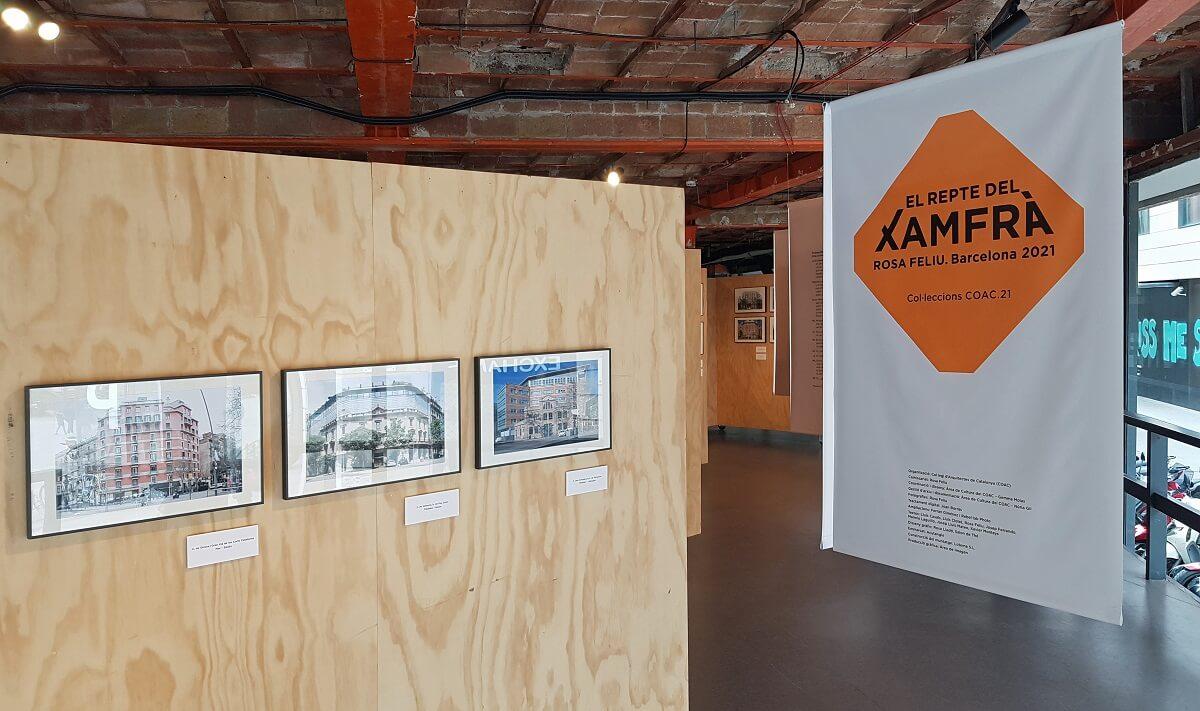 Exposición sobre los chaflanes de Barcelona