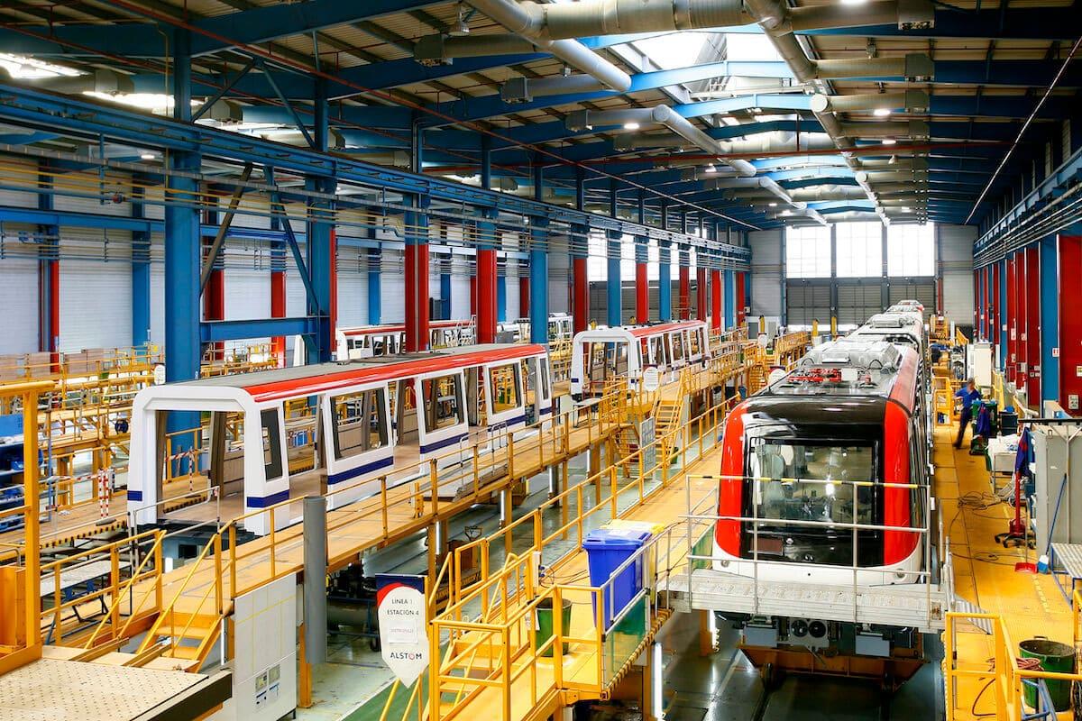 Fabricación en la planta de Alstom de Santa Perpètua de Mogoda.