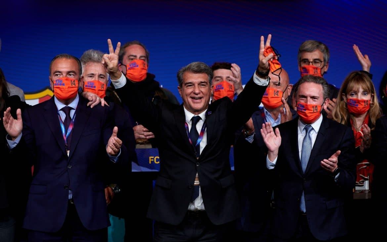 Joan Laporta y miembros de la candidatura