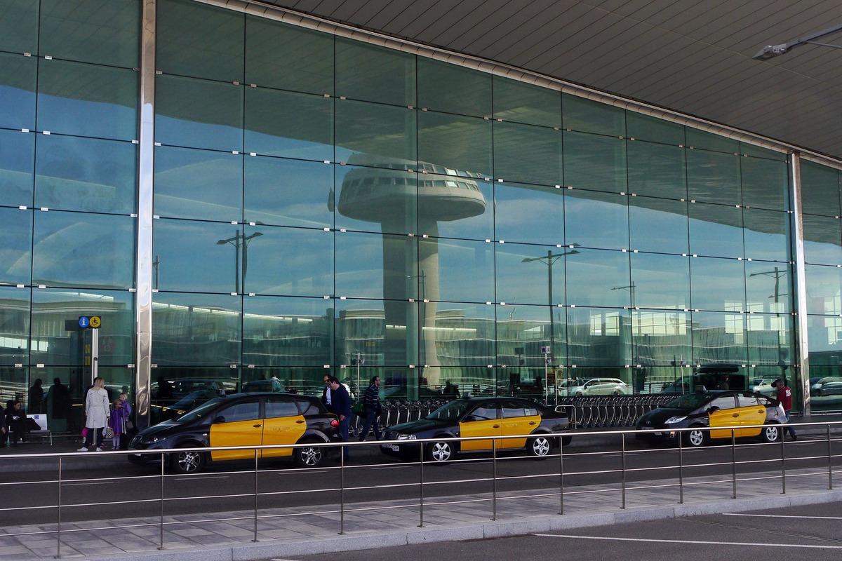 Taxis en el Aeropuerto de Barcelona