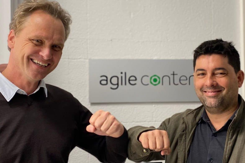 El consejero delegado de Fon, Alex Puregger, y el consejero delegado de Agile Content, Hernán Scapusio.