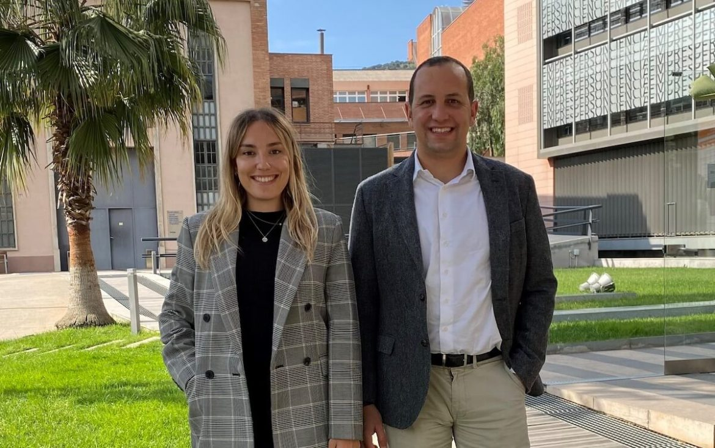 Dos de los socios fundadores de Aortyx, Noemí Balà y Jordi Martorell.