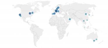 Mapa de las ciudades más competitivas del mundo