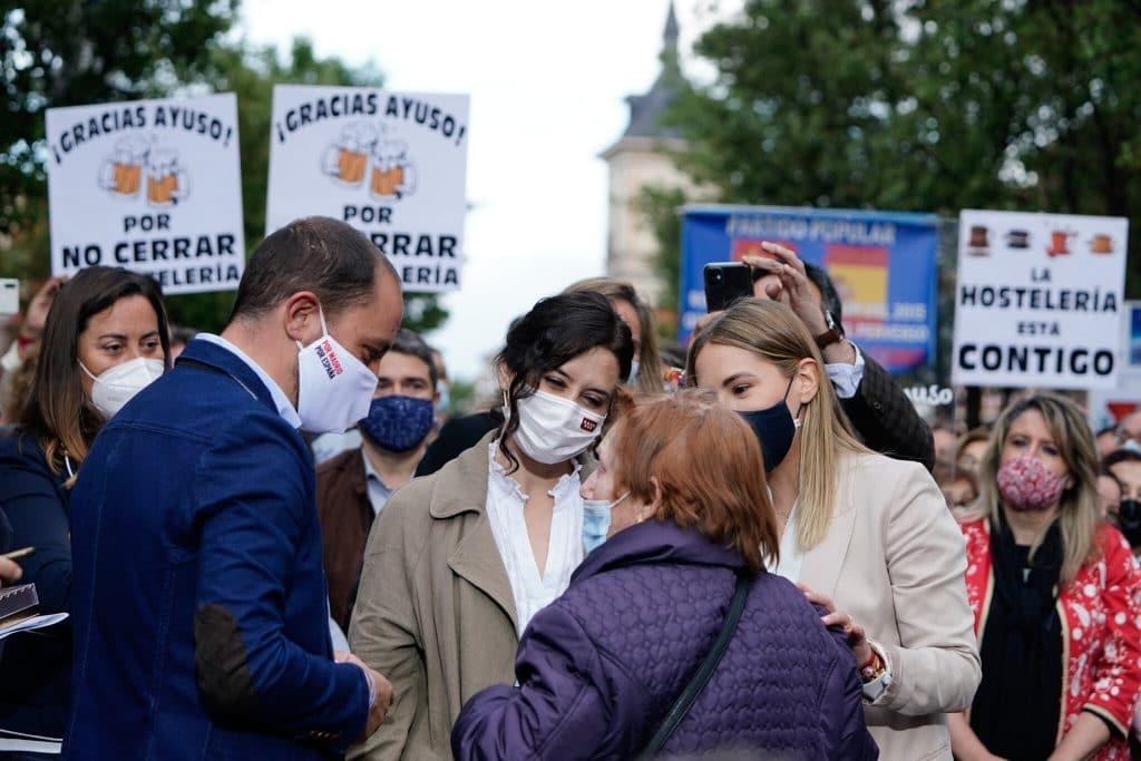 La presidenta de la Comunidad de Madrid, en un acto de campaña. ©PP Madrid