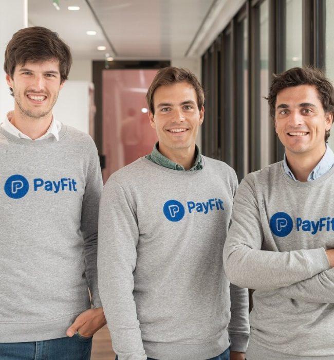 Ghislain de Fontenay, Firmin Zocchetto i Florian Fournier, fundadores de PayFit.