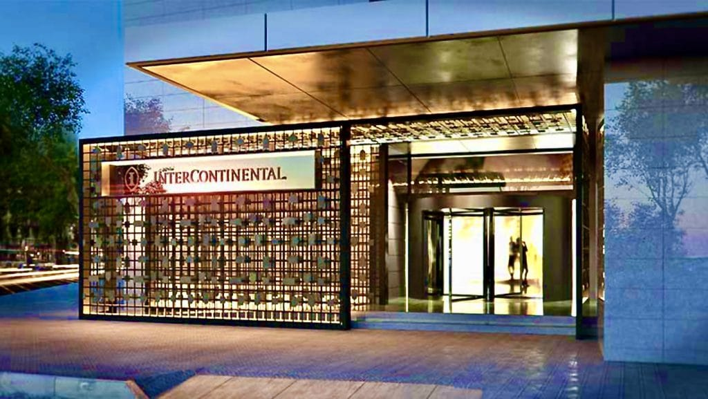 Imagen virtual de la futura puerta de acceso al nuevo Intercontinental Barcelona.