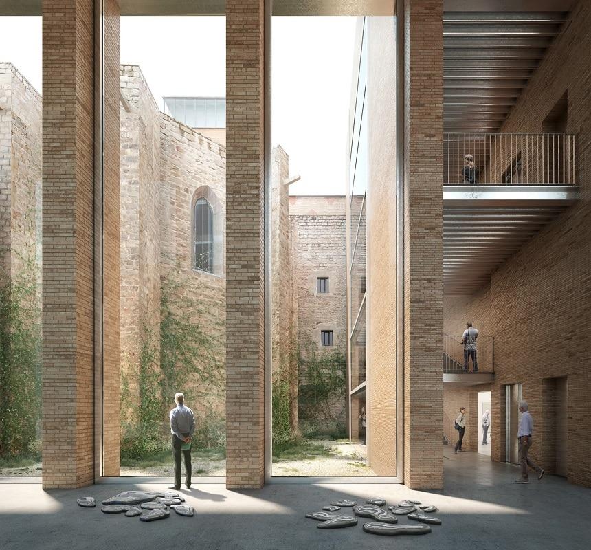 Imagen virtual del interior del nuevo edificio del MACBA.