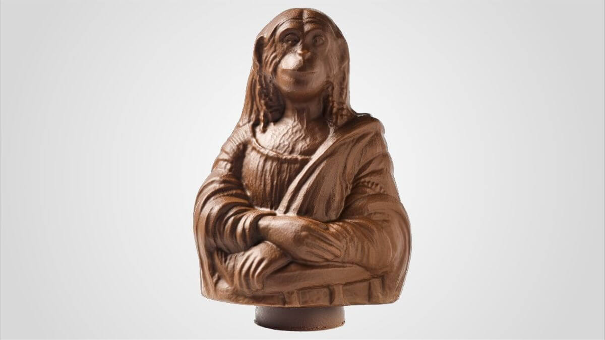 Mona de Pascua como Mona Lisa por Joan Roca de Rocambolesc