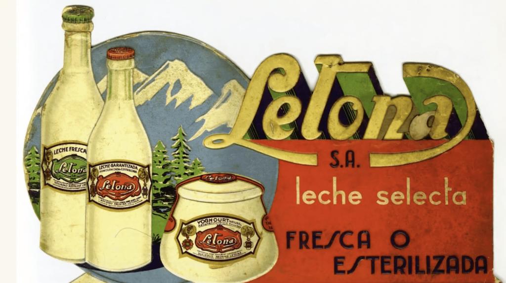 Antiguo cartel de la histórica empresa de leche