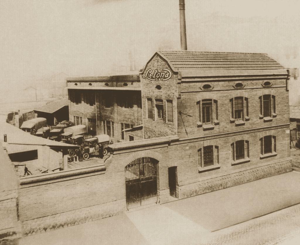 Primera fábrica de Letona en la calle Pujades de Barcelona