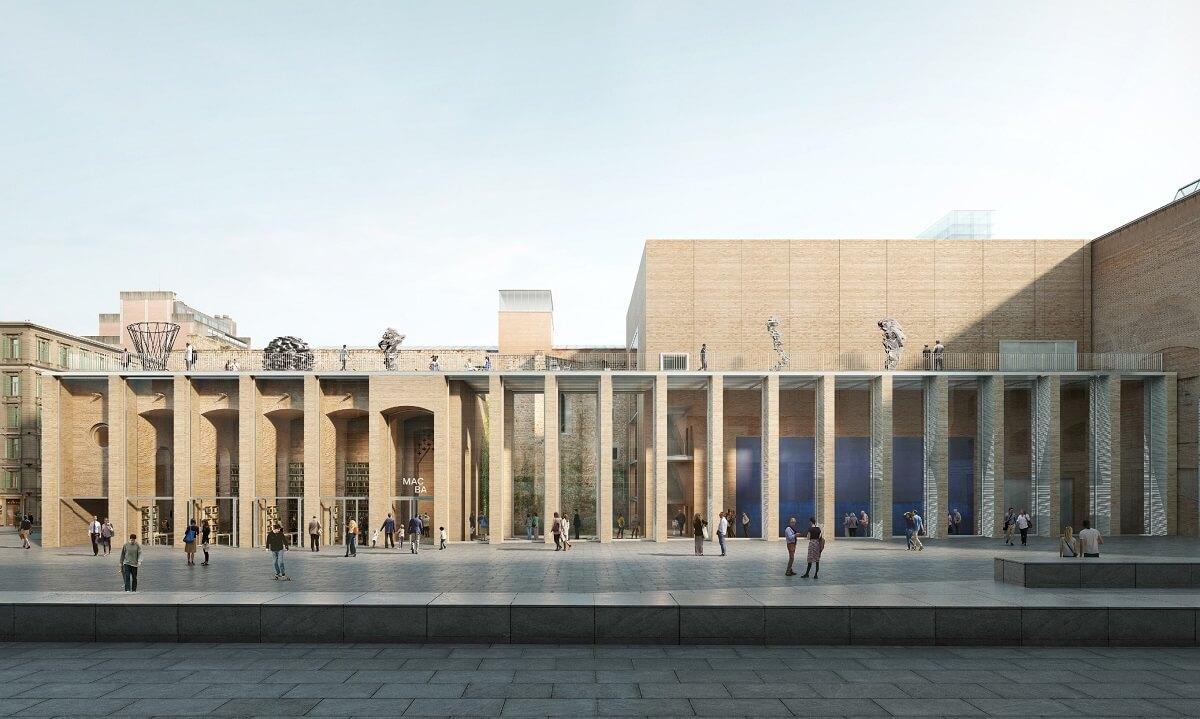 La fachada del nuevo edificio del MACBA