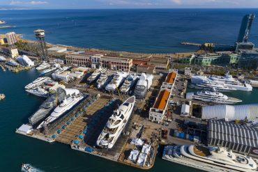 Vista aérea de las instalaciones de MB92 en el Port de Barcelona.