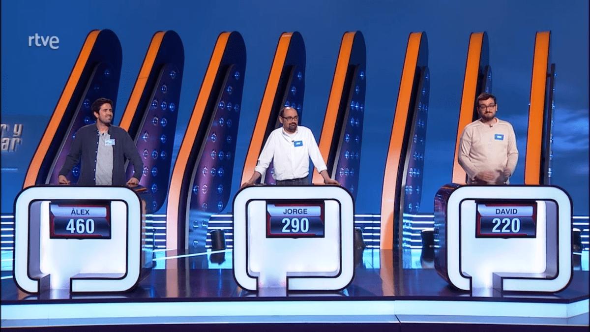 Alex Pàmies, Jorge Sanz y David Díaz, concursantes de Saber y Ganar