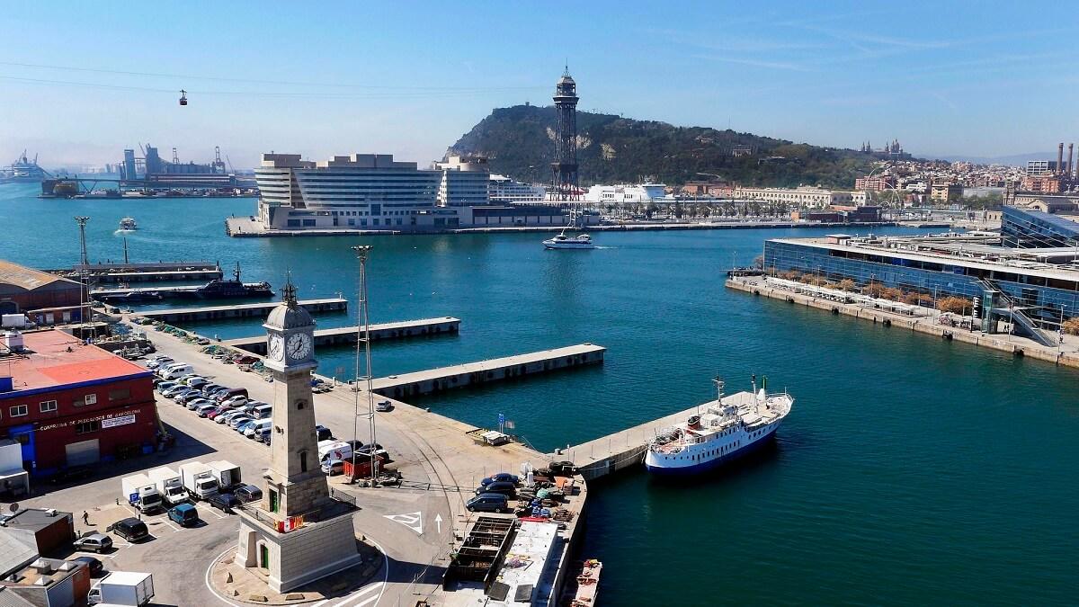 Vista panorámica del Port de Barcelona