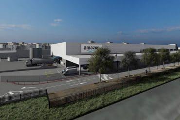 Así será la nueva estación logística de Amazon en la calle del Canem de Barcelona.