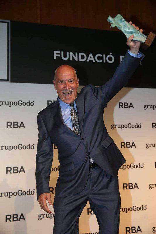 Andreu Martín en los Premios Gaziel, en 2016.