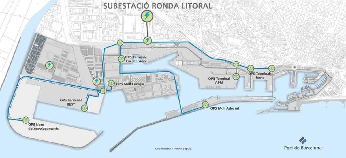Pla Electrificació Molls Port de Barcelona