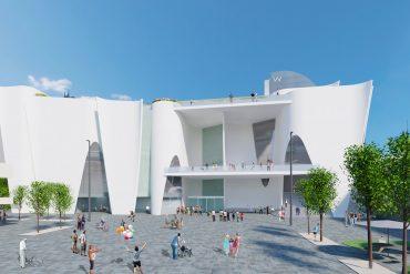 Hermitage Barcelona Render. © Toyo Ito & Associates, Architects