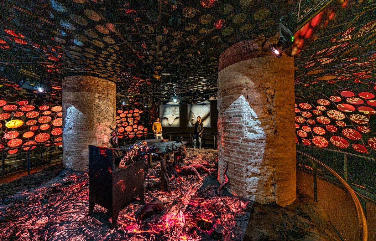 Sala que recrea la infancia de Gaudí en Casa Batlló