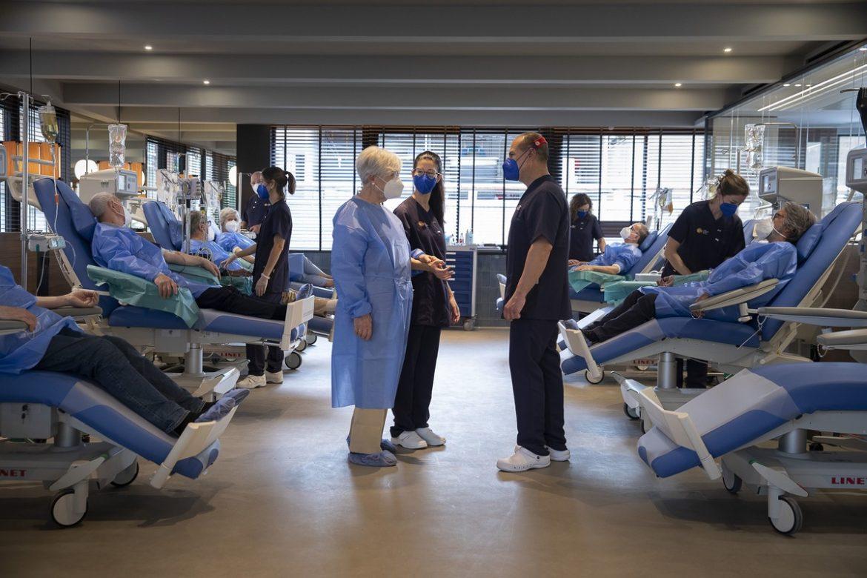 Sala de tratamiento del nuevo Ambar Center de Grifols en Barcelona