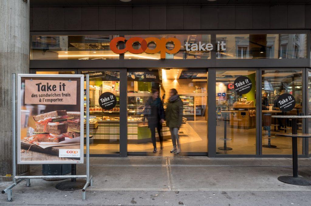 Uno de los supermercados de la cadena suiza Coop.