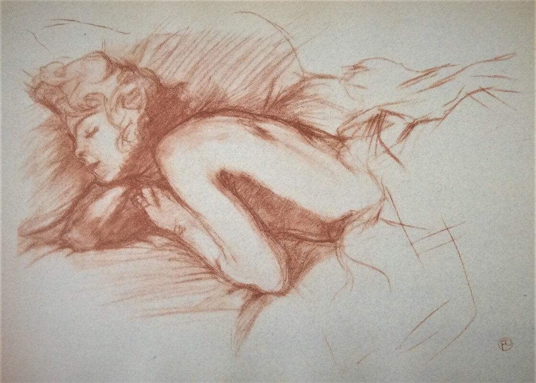 Mujer durmiendo Toulouse-Lautrec