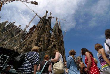 Turistes Sagrada Família